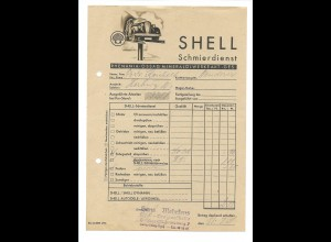 C3659/ Shell Schmierdienst Arbeitszettel 1938