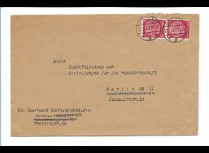 C3974/ Brief BRESLAU Dr. Gerhard Schulz-Wittuhn 1937 Schlesien