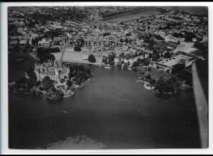 ZZ-2977/ Schwerin Foto seltenes Luftbild 1939 18 x 13 cm