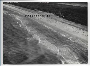 ZZ-2413/ Trassenheide Strand b. Zinnowitz seltenes Luftbild 1939 18 x 13 cm
