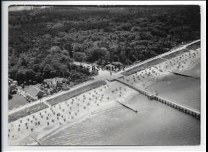 ZZ-2428/ Ostseebad Graal-Müritz seltenes Luftbild 1939 18 x 13 cm