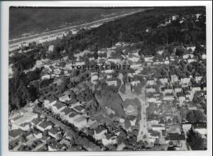 ZZ-2395/ Ostseebad Zinnowitz seltenes Luftbild 1939 18 x 13 cm
