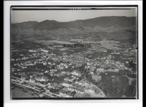 ZZ-0098/ Bühl i. Baden seltenes Foto Luftbild ca.1935 18 x 13 cm