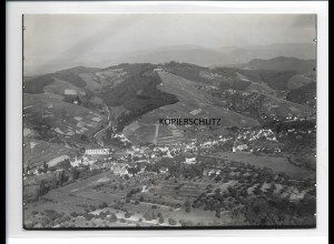 ZZ-0099/ Durbach b. Offenburg seltenes Foto Luftbild ca.1935 18 x 13 cm