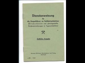 Y18113/ Dienstanweisung für Haspelführer Bergbau Dortmund