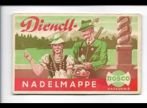 Y18115/ Dosco Nadeln alte Nadelmappe Jäger