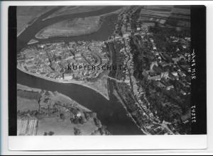 ZZ-2845/ Havelberg Foto seltenes Luftbild ca. 1935 18 x 13 cm