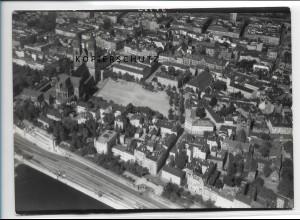 ZZ-2464/ Magdeburg Foto seltenes Luftbild 1938 18 x 13 cm