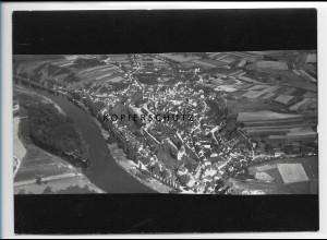 ZZ-2850/ Wettin Foto seltenes Luftbild 1939 18 x 13 cm