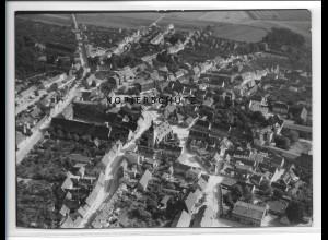 ZZ-2462/ Güsten bei Bernburg Foto seltenes Luftbild 1938 18 x 13 cm