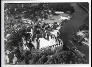 ZZ-2527/ Bernburg Foto seltenes Luftbild 1938 18 x 13 cm