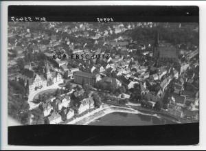 ZZ-2526/ Bernburg Foto seltenes Luftbild 1938 18 x 13 cm
