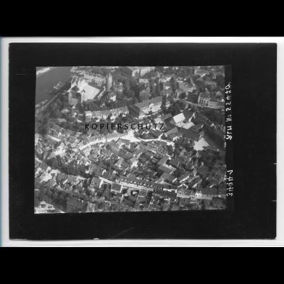 ZZ-2524/ Bernburg Foto seltenes Luftbild 1938 18 x 13 cm