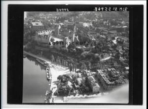 ZZ-2523/ Bernburg Foto seltenes Luftbild 1938 18 x 13 cm