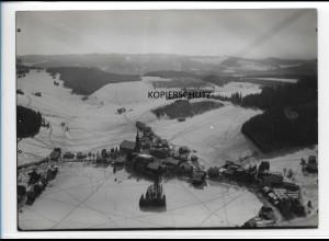 ZZ-0114/ Schönwald seltenes Foto Luftbild ca.1935 18 x 13 cm