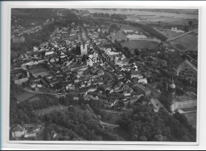 ZZ-2516/ Wittenberg Foto seltenes Luftbild ca.1938 18 x 13 cm