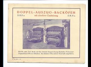 Y18101/ Bäckerei Backöfen Werner & Pfleiderer Cannstatt Stuttgart Klappkarte