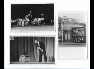 Y18102/ 3 x Foto Hunde-Dressur Zirkus Variete Christians-Dogs ca.1955