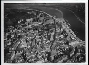 ZZ-2703/ Meißen Foto seltenes Luftbild 1938 18 x 13 cm