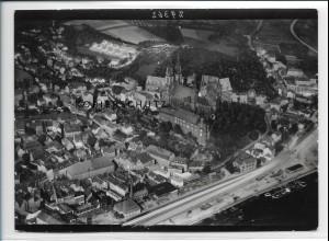 ZZ-2704/ Meißen Foto seltenes Luftbild 1938 18 x 13 cm