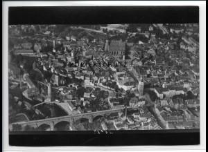 ZZ-2708/ Bautzen Foto seltenes Luftbild 1938 18 x 13 cm