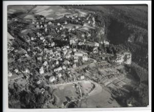 ZZ-2721/ Hohnstein b. Königstein Foto seltenes Luftbild 1939 18 x 13 cm