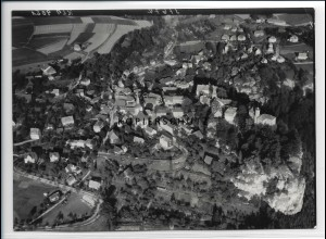 ZZ-2722/ Hohnstein b. Königstein Foto seltenes Luftbild 1939 18 x 13 cm