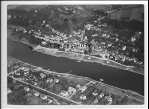 ZZ-2726/ Wehlen b. Königstein Foto seltenes Luftbild 1938 18 x 13 cm