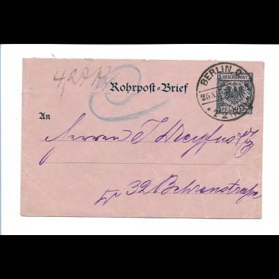 Y19000/ Rohrpost Berlin 1895 Brief Ganzsache