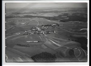 ZZ-0127/ Buchhheim seltenes Foto Luftbild ca.1935 18 x 13 cm