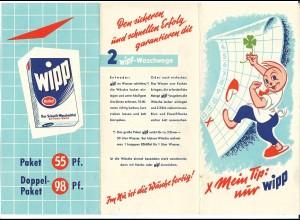 C4005/ Wipp Waschmittel von Henkel Reklame Werbung Faltblatt ca.1960