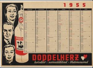 C4004/ DIN A 4 Kalenderblatt 1955 Doppelherz Reklame Werbung