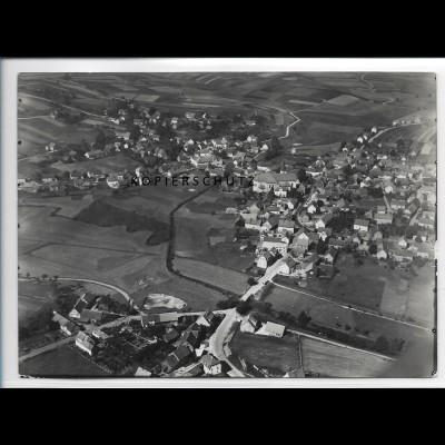 ZZ-2529/ Flieden b. Schlüchtern Foto seltenes Luftbild 1937 18 x 13 cm
