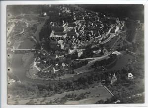ZZ-2922/ Weilburg a.d. L. Foto seltenes Luftbild 1937 18 x 13 cm