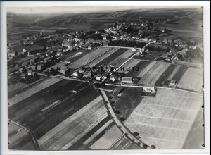 ZZ-2536/ Petersberg bei Fulda Foto seltenes Luftbild 1937 18 x 13 cm