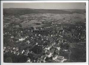 ZZ-2620/ Michelstadt Foto seltenes Luftbild 1934 18 x 13 cm