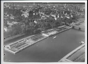 ZZ-2841/ Frankfurt M. Badeplätze Foto seltenes Luftbild 1937 18 x 13 cm