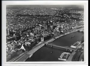 ZZ-2742/ Frankfurt M. Foto seltenes Luftbild 1939 18 x 13 cm