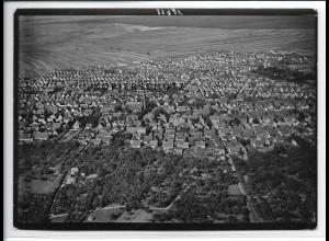 ZZ-2842/ Lampertheim Foto seltenes Luftbild ca.1938 18 x 13 cm
