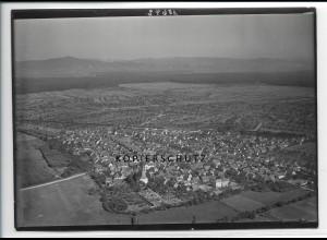 ZZ-2891/ Groß-Rohrheim Foto seltenes Luftbild ca.1938 18 x 13 cm