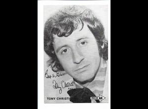 Y18195/ Tony Christie alte MCA Autogrammkarte