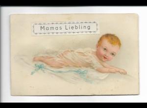 Y18227/ Karte Quietscht zum Drücken Litho Mamas Liebling, Baby ca.1920