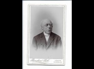 Y18231/ CDV alter Mann mit Brille Atelier Bernhard Prill Lübeck, Oldesloe ca1900