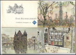 Y18765/ Das Ruhrgebiet 12 x ARAL Künstler AK