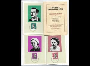 Y18755/ 5 x AK Maximum-Postkarten , ermordete junge Antifaschisten 1962