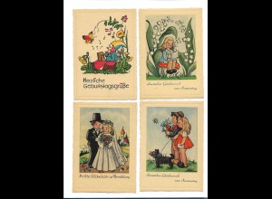 Y16453/ 10 x AK Kinder Glückwunsch ca. 1950-55