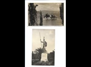 Y18318/ 2 x Foto AK Korfu Corfu Griechenland 1935