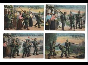 Y18331/ 6er Serie Gloria Victoria 1. Weltkrieg Soldaten AK 1916