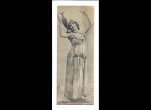 Y18753/ junge Frau mit Wasserkrug Foto AK 1904 16,8 x 6,4 cm
