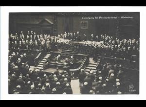U9838/ Vereidigung des Reichspräsidenten Hinenburg 1925 Foto AK